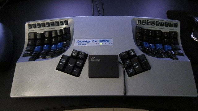 Kinesis keyboard with touchpad